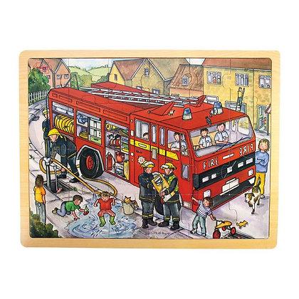 BigJigsTray Puzzle Fire Engine