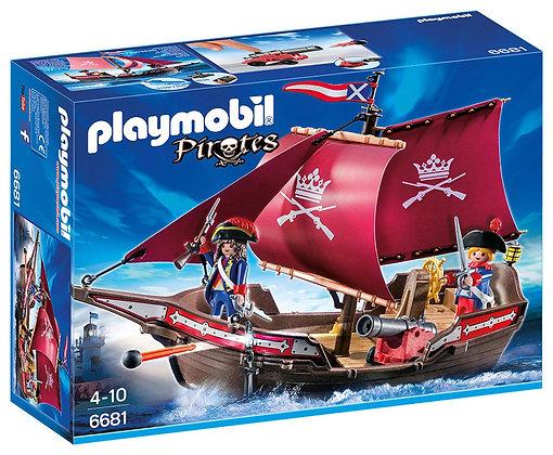 Playmobil 6681 Floating Pirates Patrol Boat.