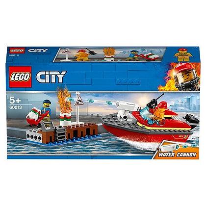 Lego 60213 City Dock side Fire Boat