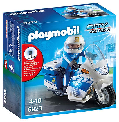 Playmobil 6923 City Action Bike with LED Light