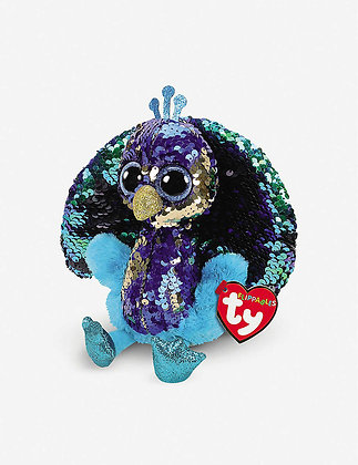 TY Flippables Tyson the  Peacock 15cm 36349