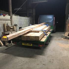 softwood beams