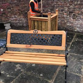 Refurbished public bench