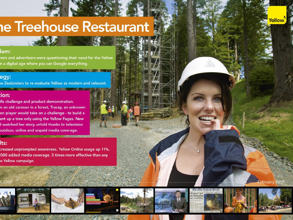 Yellow 'Treehouse Restaurant'