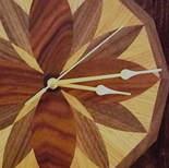 Wooden veneer clock