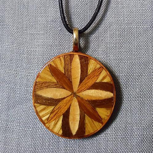 Natural Wood Cross pendant