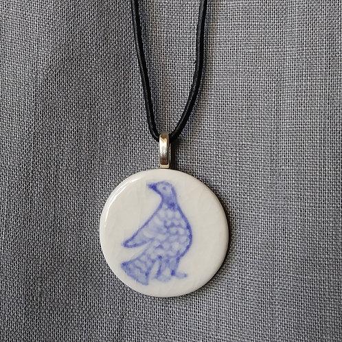 Blue bird motif