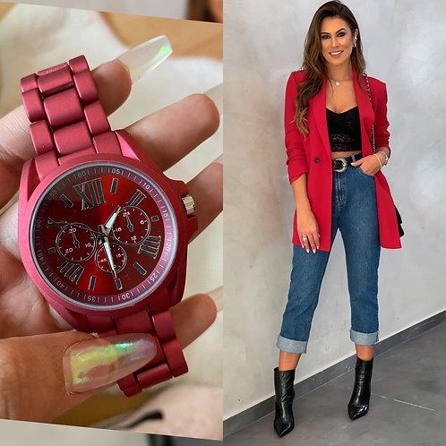 Reloj Curie Rojo
