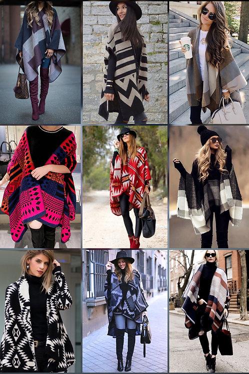 Ponchos capa trendy