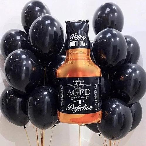 4 Globos Botella Whisky