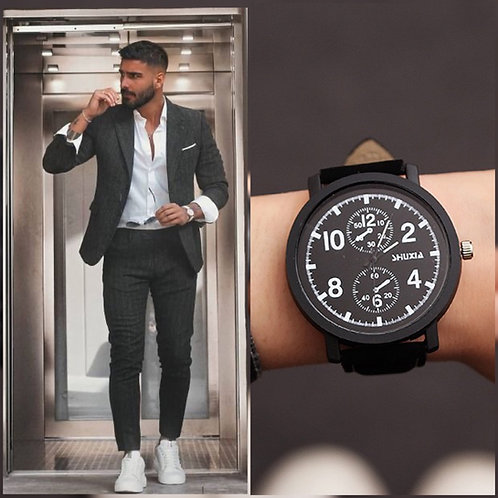Reloj Múnich Negro-Negro
