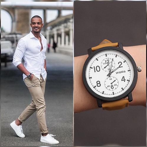 Reloj Múnich Camel-Blanco