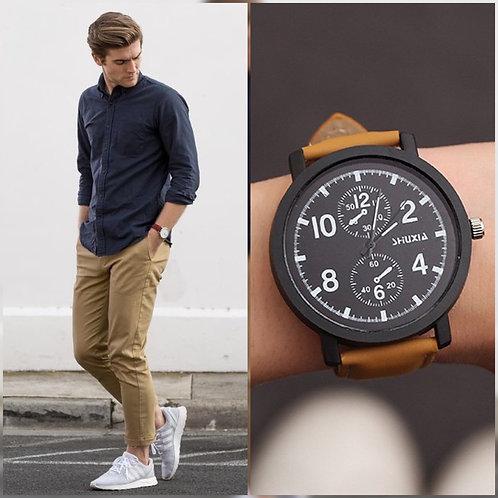 Reloj Múnich Camel-Negro