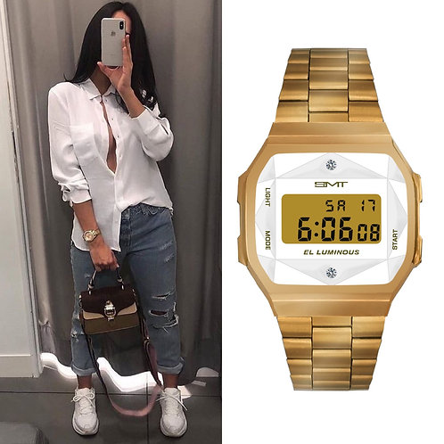 Reloj Diamante Oro Día