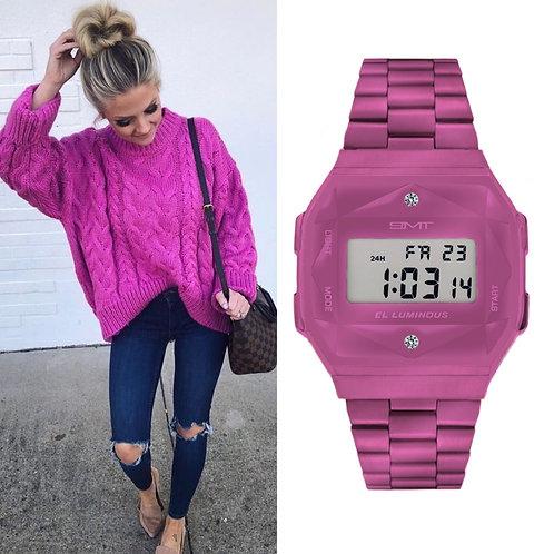 Reloj Diamante Rosa