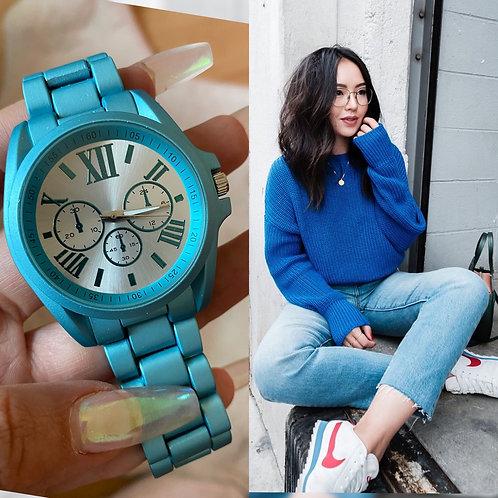 Reloj Curie Azul Rey