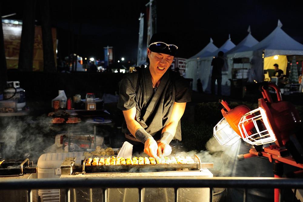 yakitori at Japanese festivals and night markets
