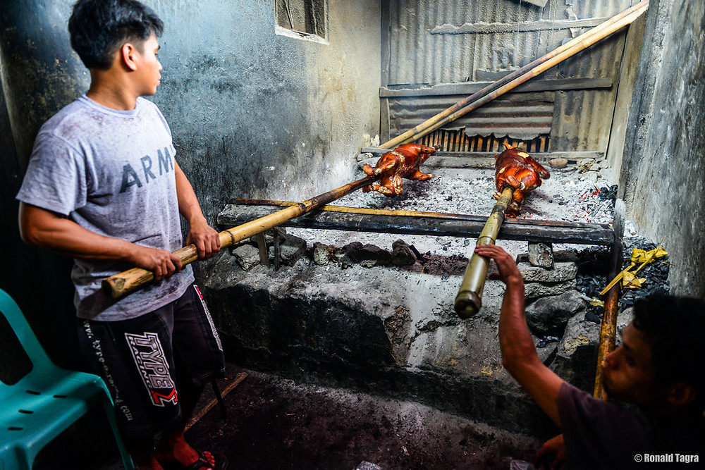 Charcoal roasted Lechon