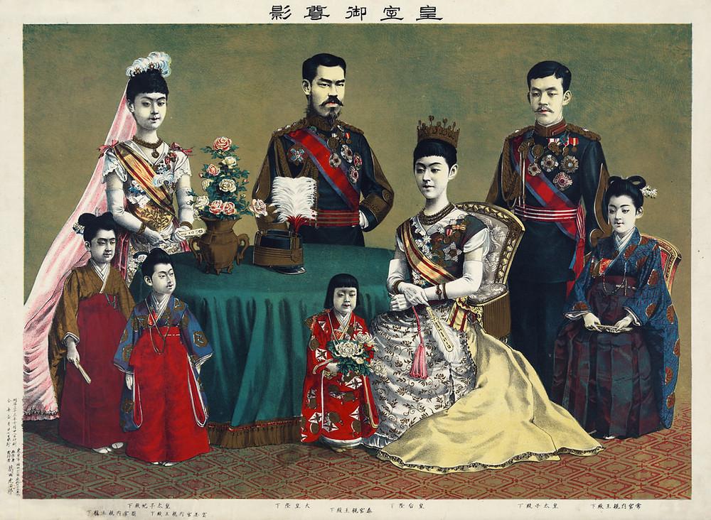 Meiji Emperor Family Painting