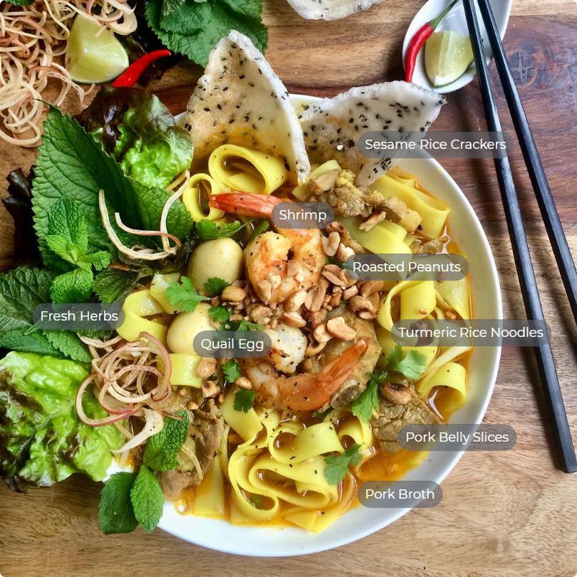 Mi Quang ingredients