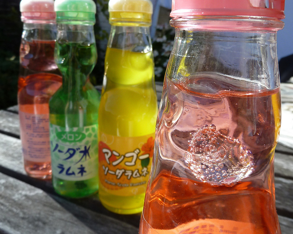 Variety of ramune flavors