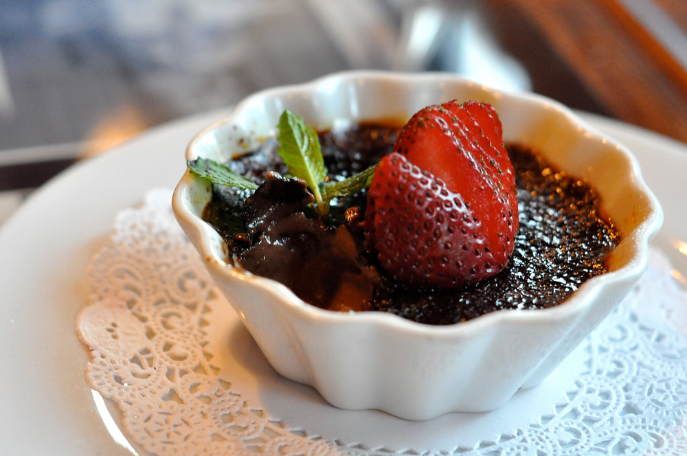 spicy dark chocolate creme brulee