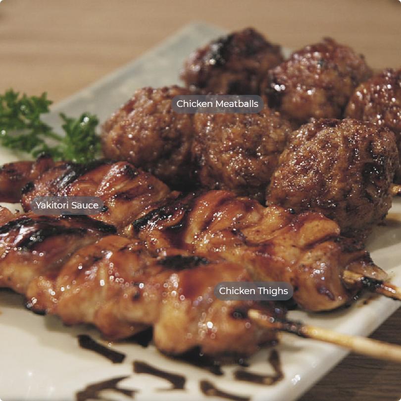umami and sweet flavors of Yakitori