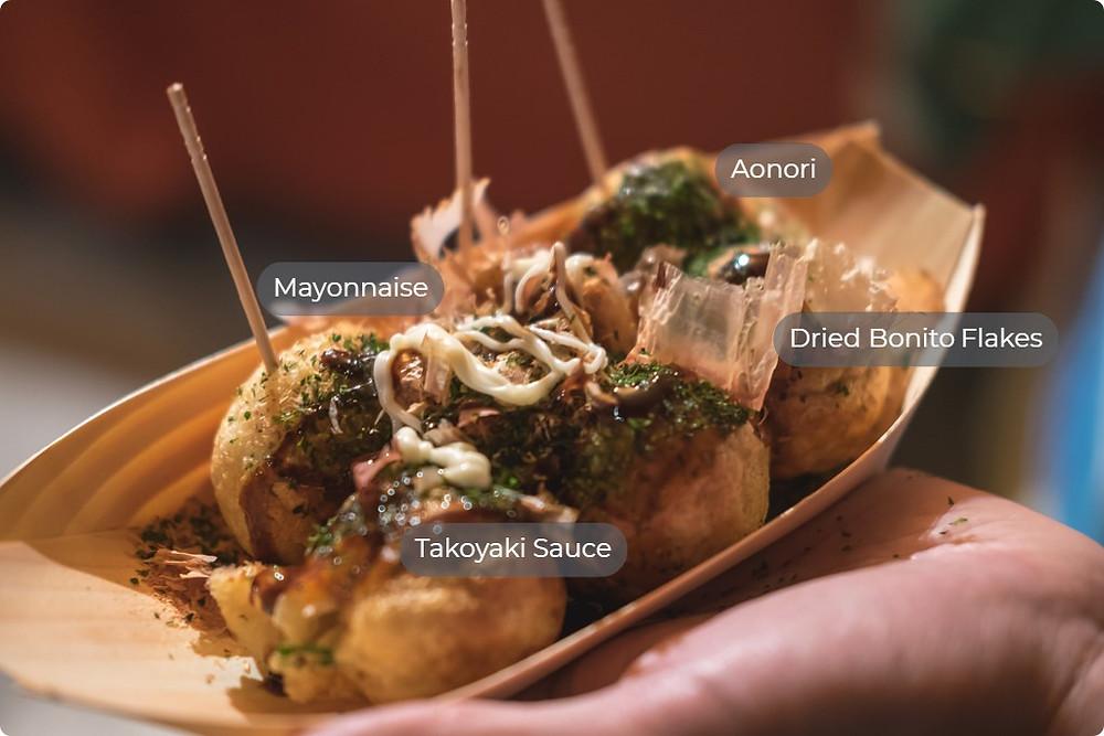 Takoyaki toppings