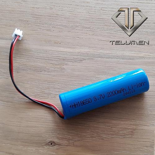 Batterie rechargeable 18650 2200mah 3.7V avec connecteur mâle