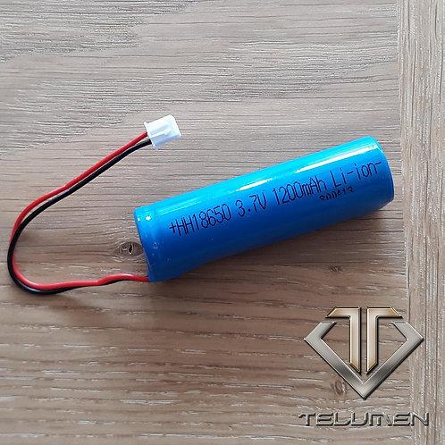 Batterie rechargeable 18650 1200mah 3.7V avec connecteur mâle