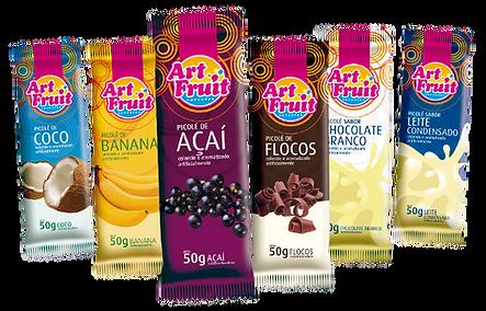 Picolés Art Fruit