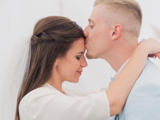 Mariage pluvieux mais mariage lumineux !