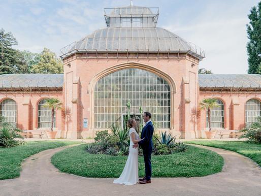 Reportage mariage à Metz et séance couple au jardin botanique