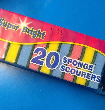 Sponge scourers (20)