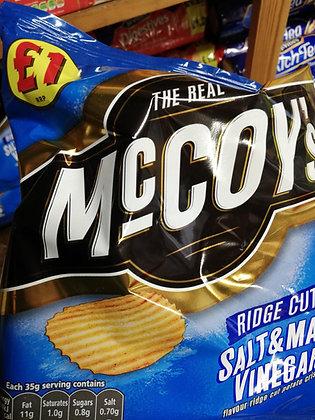 McCoy's ridge cut salt and malt vinegar (Grab bag large)