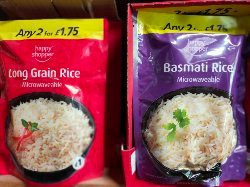 Happy Shopper Rice - microwaveable -  2 for £1.75