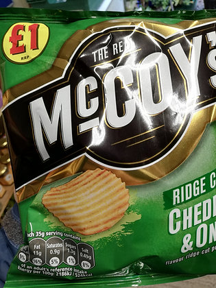 McCoy's ridge cut cheddar and onion (Grab bag large)