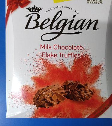 Belgian chocolate flake truffles