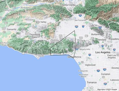 Santa Monica & Malibu - Route Map