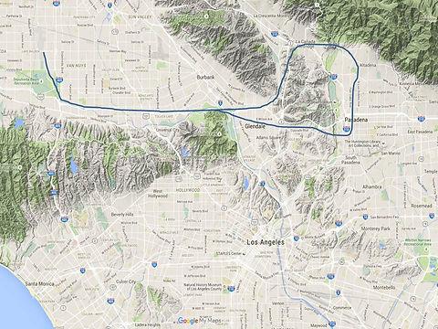 Rose Bowl & Pasadena Tour Map