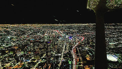 Night Flight Over DTLA