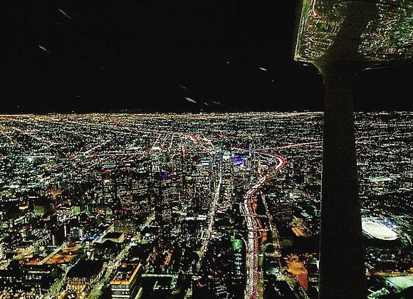 Night Flight Over DTLA
