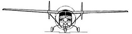 Cessna T337G Sketch (Front)