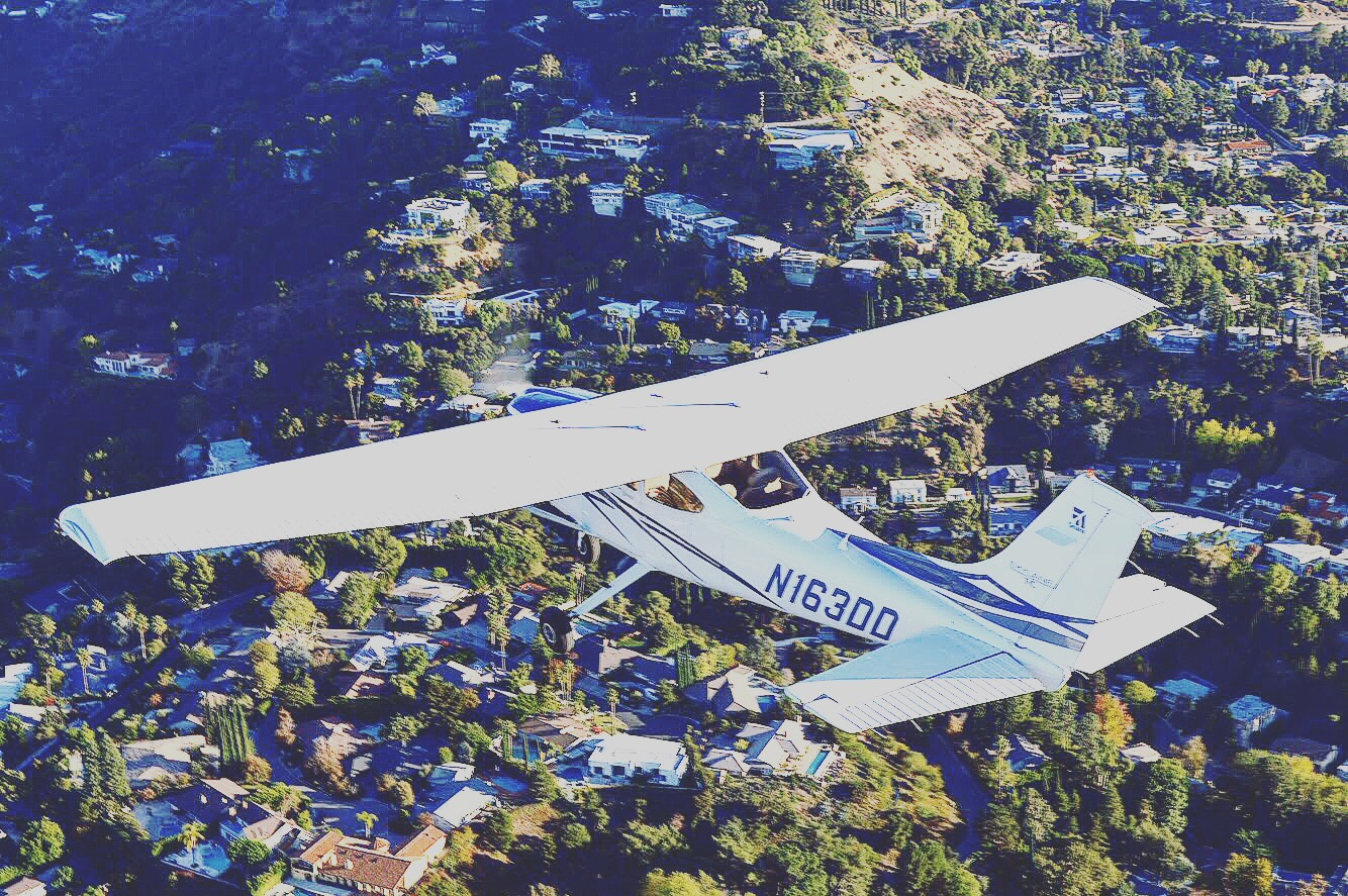 Cessna over Hollywood