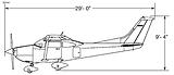 Cessna T182T Sketch (Side)