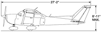 Cessna 172S Sketch (Side)