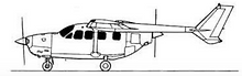 Cessna T337G Sketch (Side)