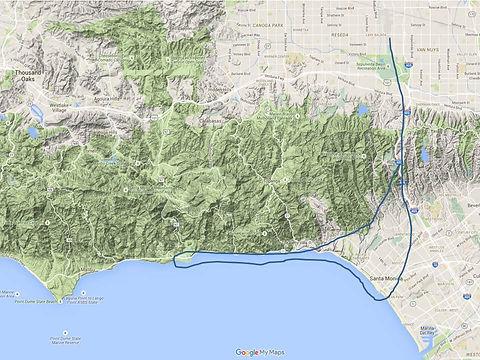 Santa Monica Pier & Malibu Tour Map