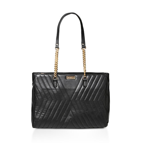 CARVELA Black 'Famous Quilted Bag' quilted tote bag - BLACK