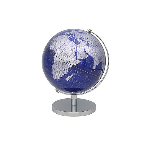 Vintage World Silver & Blue Globe